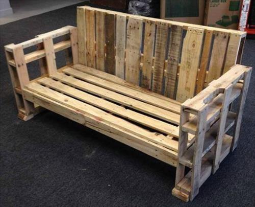 DIY Wooden Pallet Benches   Pallets Furniture Designs