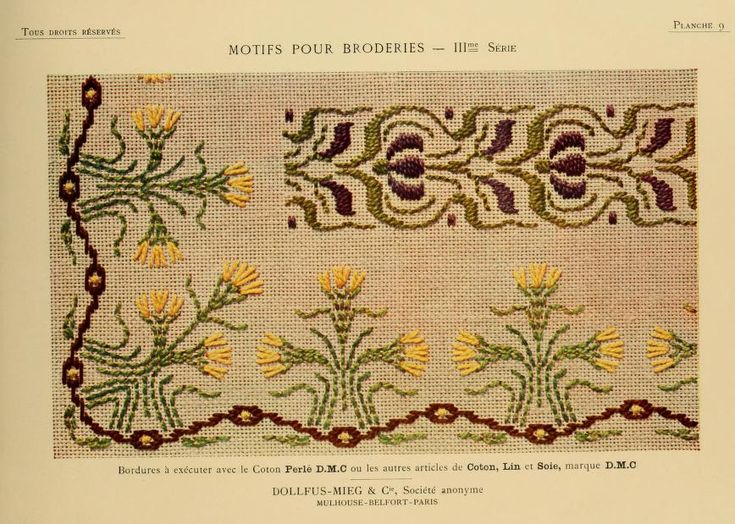 Motifs pour broderies. (IIIme série) No. 9