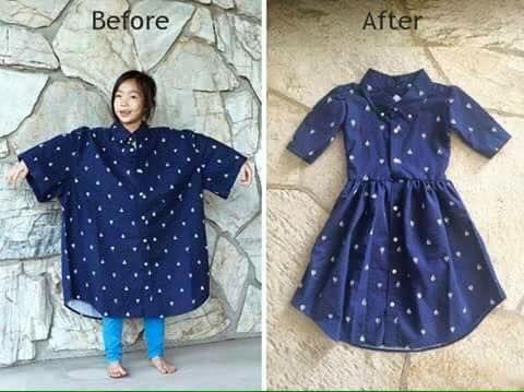 Gömlekten Elbise Yapımı