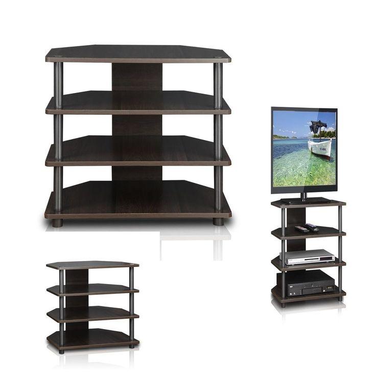 Modern espresso TV stand media entertainment center storage cabinet furniture #PerfectAllinaceLad #Contemporary