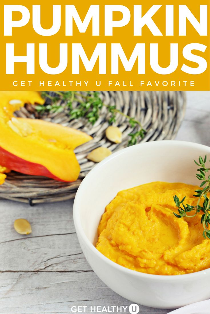 This tasty spin on hummus is delicious!Great for a parties or a healthy snack. I love everything pumpkin so make this all year round, but it's perfect around Thanksgiving and Fall. Lot's of protein in this dish from the garbanzo beans and the pumpkin itself, so it should keep you satisfied longer. #pumpkin #pumpkinrecipes #fallrecipes #fallfavorites #pumpkinhummus #hummusrecipe #snacks