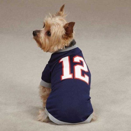 Medium #12 Tom Brady Dog Jersey New England Patriots NFL Pet Puppy Mesh T Shirt Clothes Apparel by Pet Edge. $12.70