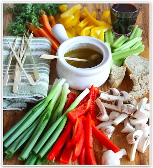 Bagna Cauda - a traditional dip from Piedmont region of Italy - served ...