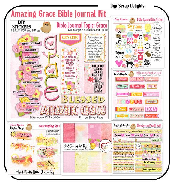 Printable Bible Journal Kits: print on sticker paper (save a fortune with this option)