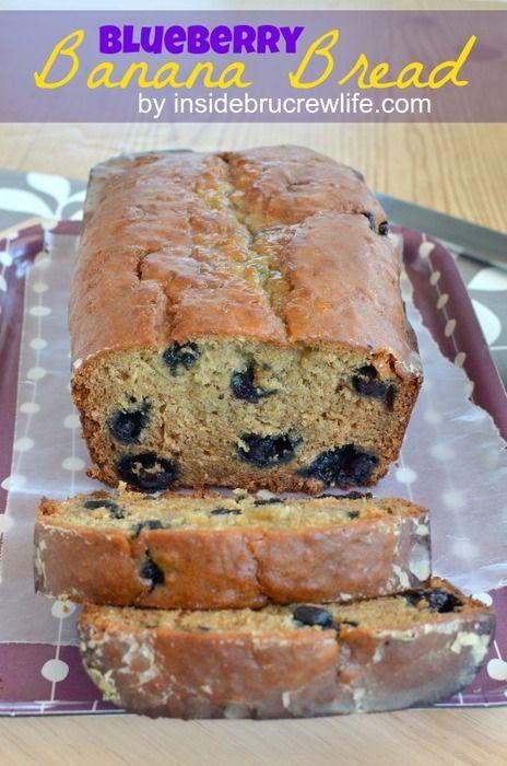 Blueberry Banana Bread - banana bread gets a health kick with oats, yogurt, and blueberries