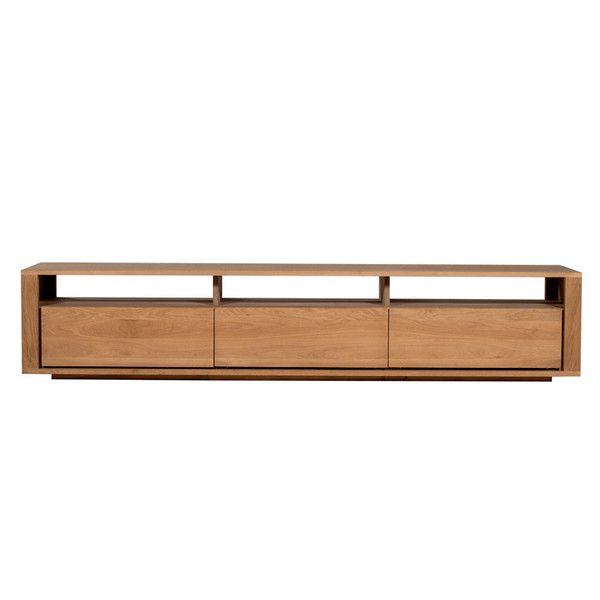 Ethnicraft Oak Shadow 3 Drawers Entertainment Unit 210cm by Ethnicraft - Volume Furniture
