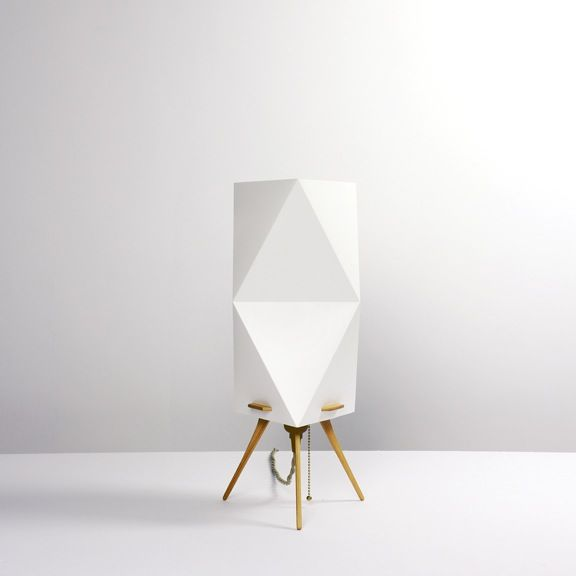 Lamp Uses The Origami Folding Technique To Create A Form That Does Not Require Metal Frame Table Has 3 Functions Which Can Be Used As P