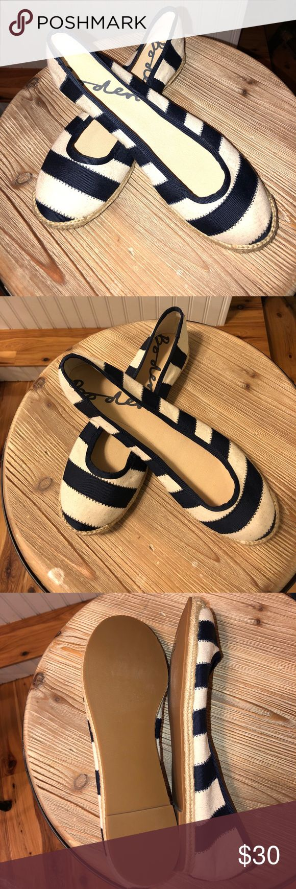 NWT Boden preppy hip boho espadrilles beach fun NWT Boden preppy hip boho espadrilles. Navy and cream. Tooo cute! They are a Euro 40, but for a US 9 Boden Shoes Espadrilles