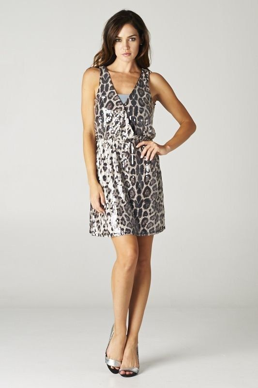 Catch Bliss Boutique - Animal Print Sequin Cocktail Dress, $67.00 (http://www.catchbliss.com/animal-print-sequin-cocktail-dress/)