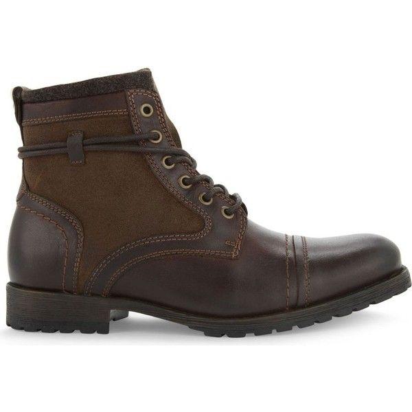 Aldo Acelalla leather ankle boot featuring polyvore, men's fashion, men's shoes, men's boots, mens ankle boots, mens short boots, mens leather shoes, mens leopard print shoes and mens leather ankle boots