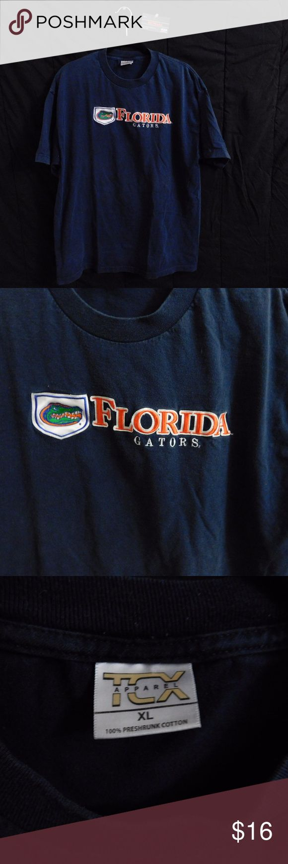 Florida Gators Spellout Tee XL USED Vintage Embroidered TCX Apparel Florida Gators Spellout T Shirt | MENS size XL | Good condition, minor fading | may run small , 100% PreShrunk Cotton  For Discounts Follow Me on Instagram @407vintage !  KEYWORDS/TAGS: ultra boost , Tommy Hilfiger , Polo Sport , Nautica , NMD , supreme , kith , bred , adidas , banned , french blue , stussy , Maestro , vintage , kaws , solefly , trophy room , box logo , gamma blue , retro jordan , steal , foams , foamposite…