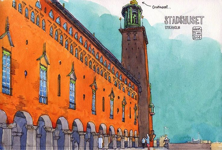 City hall and some winter sun. By Nina Johansson, Stockholm, Sweden