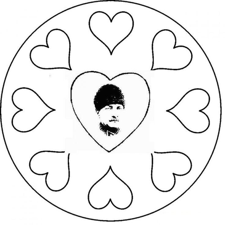 Atatürk Boyama Mandala