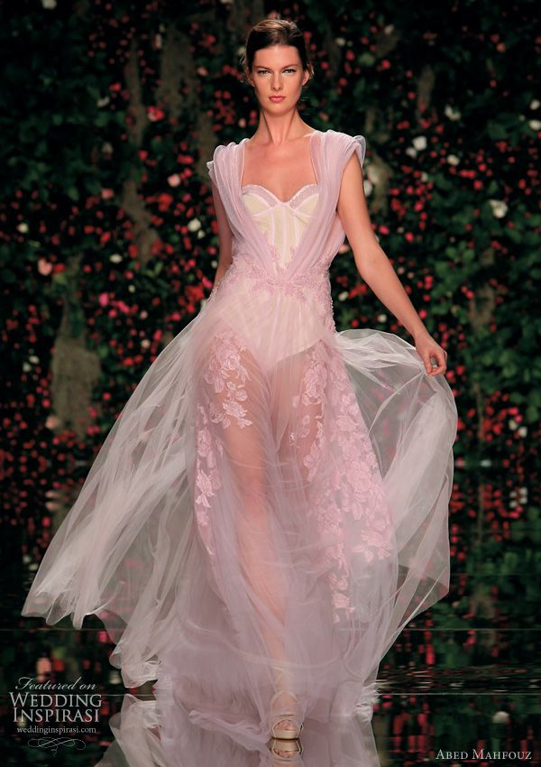 pink wedding dresses   -Abed Mahfouz 2011  http://www.weddinginspirasi.com/2011/06/07/abed-mahfouz-spring-2011-couture-dresses/