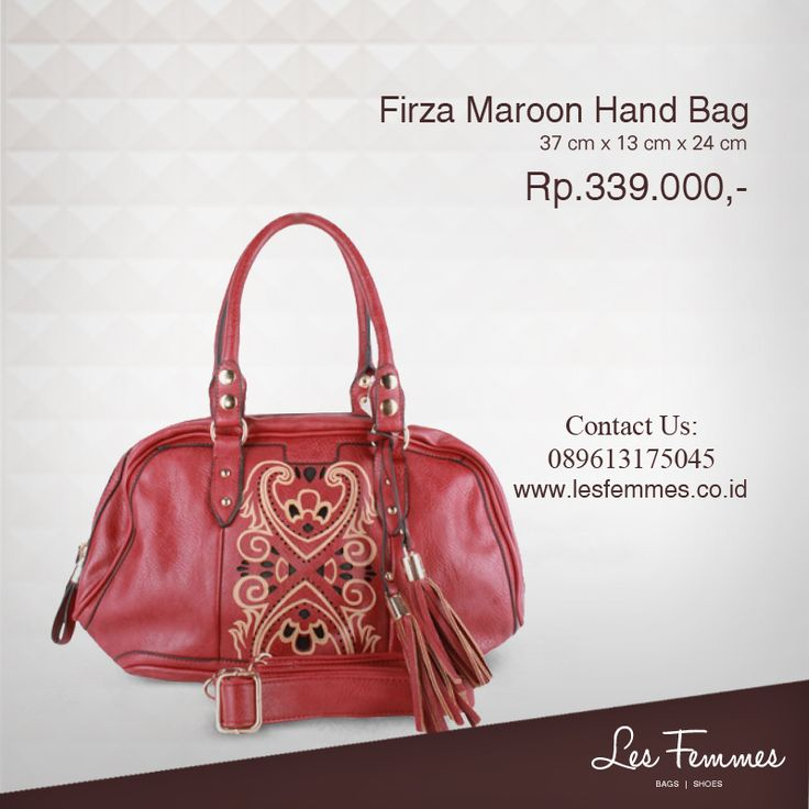 Firza Maroon Hand Bag 339,000 IDR #Fashion #Woman #bag shop now on http://www.lesfemmes.co.id/hand-bags/firza-maroon-hand-bag