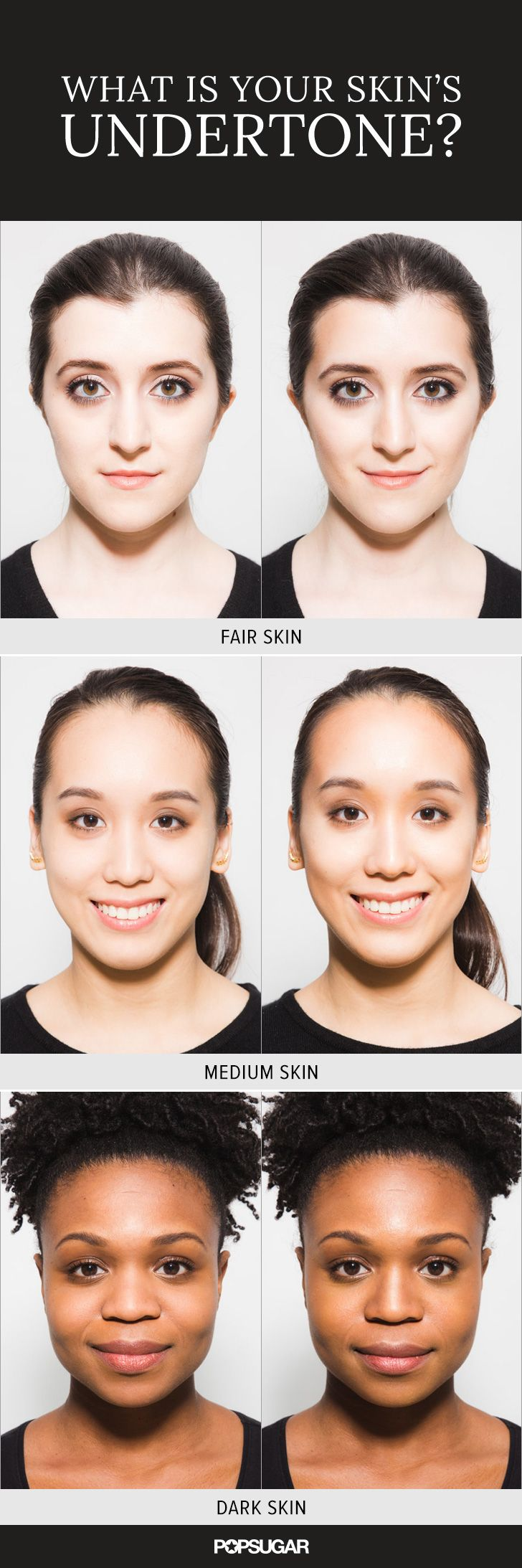 Not sure what your skin's undertone is? Take this easy quiz to find out! Not only will it help you find the perfect foundation for your complexion, but it'll help you figure out which jewelry and clothing colors work best on you.