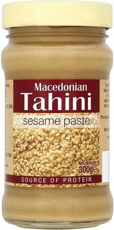 TAHINI - tot pasta gemalen sesamzaad - licht verteerbaar - 'wondermiddel': bijzonder rijk aan vitaminen, mineralen, aminozuren, essentiële vetzuren (zoals omega-3 en omega-6 vetzuren), proteïnen en voedingsvezels - beval veel calcium (geschikt alternatief i.g.v. koemelkallergie)