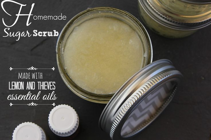 Are you looking for a homemade sugar scrub recipe using #essentialoils Here is a great one made from lemon and thieves, I keep it next to my sink for when my hands smell like peppers or onions!