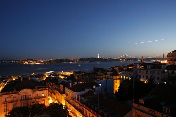 Lisbon View from Bairro Alto Hotel