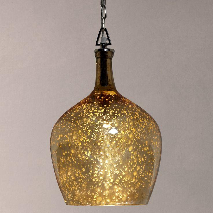 Buy John Lewis Tallulah Copper Pendant Light, Mercury Online at johnlewis.com  above table??