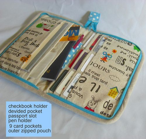♥ Zip Organizer made by me. Happy to find it on Pinterest!
