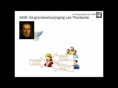 1.4 De grondwet van 1848 (Rechtsstaat en democratie - Geschiedeniswerkplaats) - YouTube
