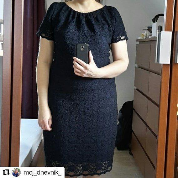 @moj_dnevnik_ in einem Carmen - Kleid aus Spitze nach den Schnittmuster-Bausteinen aus dem rosa p Buch #nähdirdeinkleid. Über www.rosape.de.