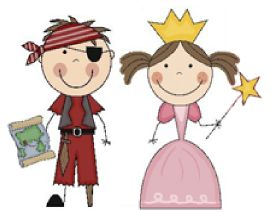 Pirate and Princess birthday party ideas for boys and girls.  Perfect for boy / girl parties, siblings and twins!  Fun ideas for decorations, invitations, games, activities, goody bags and favors.