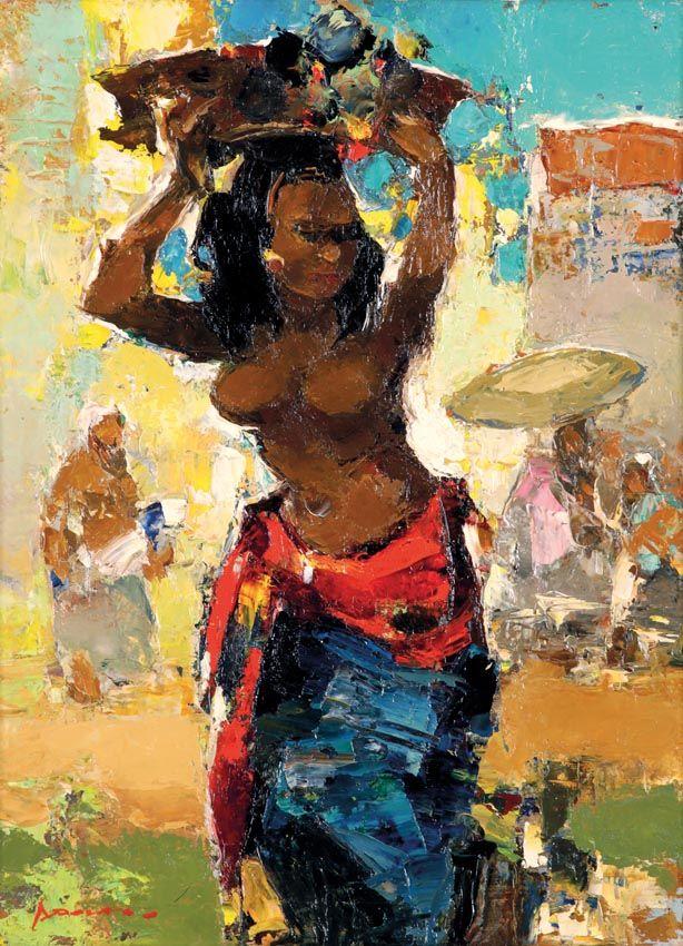 Gerard Pieter Adolfs (Semarang, 1899 – The Netherlands, 1968) - Marktvrouw, Bali, 1963