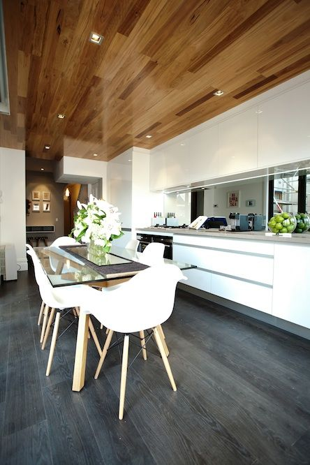 High gloss timber ceiling - featured on The Block 2012