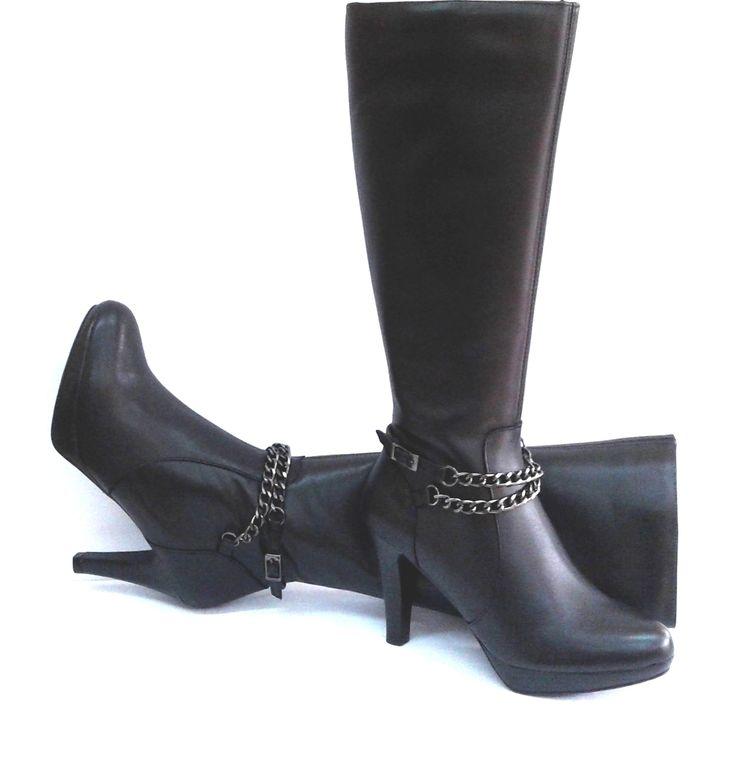 Modelo 420 negro #botas#piel#hechoenespaña