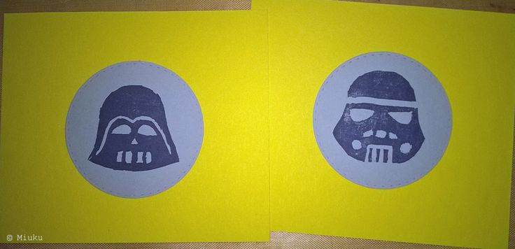 DIY Star Wars stamps. / Itsetehdyt leimasimet.