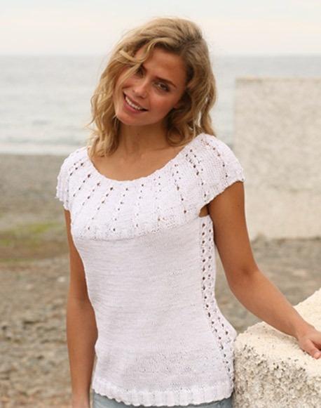 Il filo di Arianna maglia e uncinetto : Top con maniche alla raglan