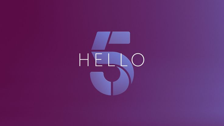 Hello Channel 5 Identity design led by 5Creative