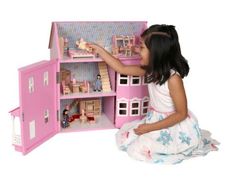 Give your little princess a gift that shell treasure forever. Grab a full six rooms of wooden dolls house furniture set for $60, a furniture set and a four-pack of wooden dolls for $70 or the furniture set, four-pack of dolls and a wooden dolls house for $160 from Kidz Stuff Online.