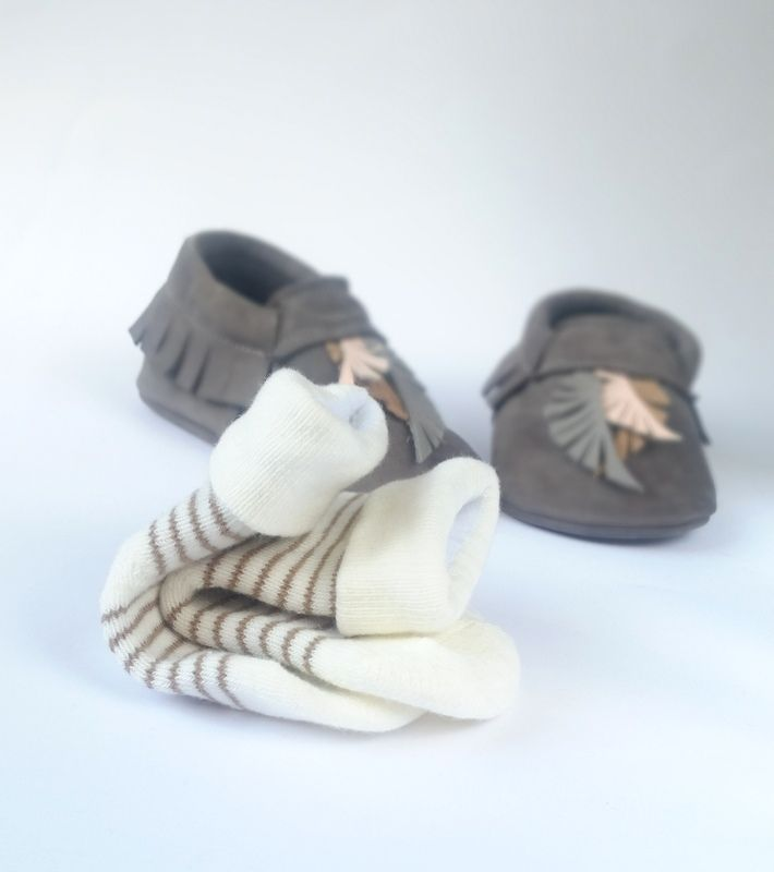 moks - baby leather moccasins
