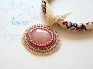 Naszyjnik z kwarcem różowym