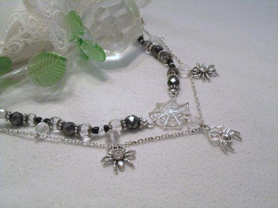 Spinrag halsketting gothic sieraden Victoriaanse door Sheekydoodle