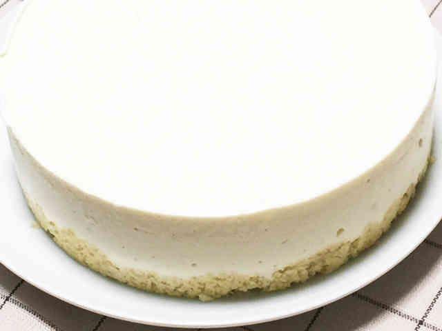 糖質制限レアチーズケーキの画像