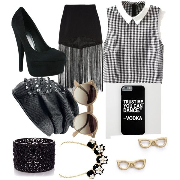 Party by royalty304 on Polyvore featuring polyvore, beauty, Ray-Ban, Kate Spade, Oasis and Line & Dot