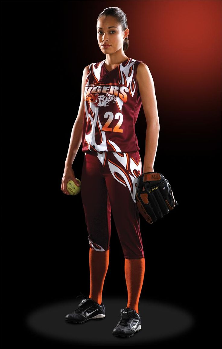 Fastpitch Softball Uniform Designs | Flames Women's Sublimated Softball Jersey Teamwork ProSphere