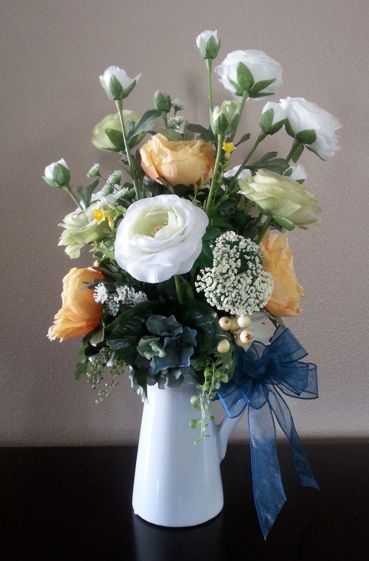 8 best fall decor images on pinterest for Arrangement floral artificiel