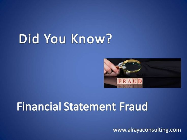 DID YOU KNOW? FINANCIAL STATEMENT FRAUD My Progress Pinterest - financial statement