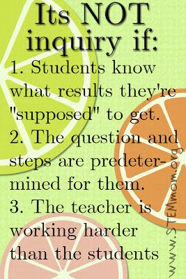 Science should make students think :: simply because a student is at a lab does not mean they are doing inquiry
