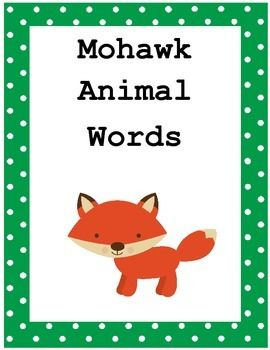 This is a set of 6 animal flash cards with animals names in English and in Mohawk. It includes links to a pronunciation guide, a video showing more animals and their pronunciation in Mohawk and a Mohawk fun facts for kids page link.This product may be used as a printable or flash cards.