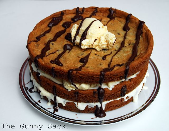 Chocolate Chip Cookie & Ice Cream Cake