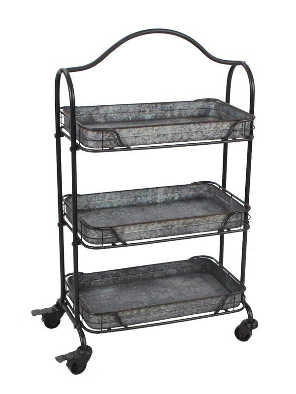 Wilco Home 3-Tray Rolling Utility Cart & Reviews | Wayfair