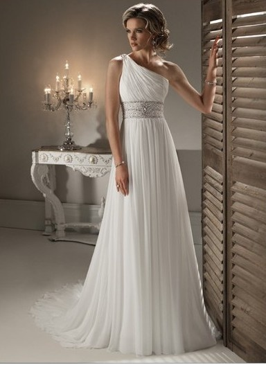 15 best images about greek style wedding gowns on for Grecian goddess wedding dresses