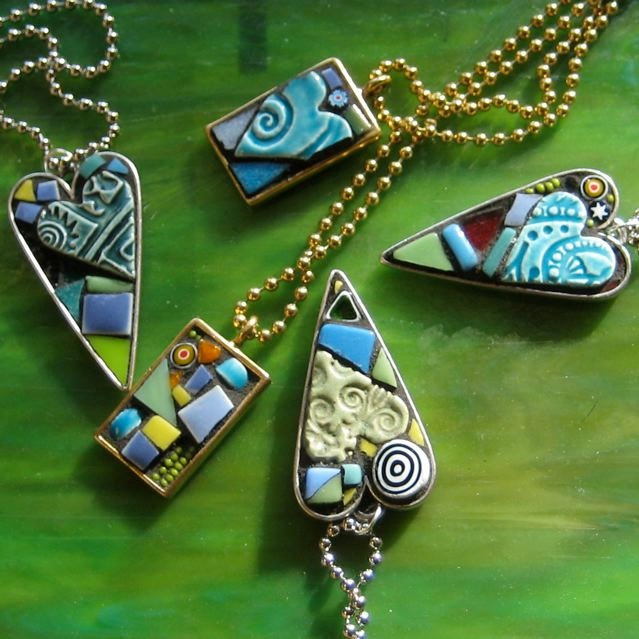 Mosaic Jewelry Rectangular Pendant in Wonderful by valnorthwoods, $28.00