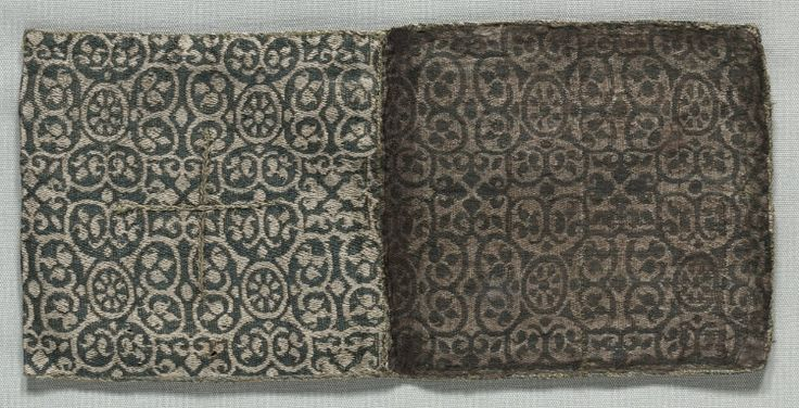 Reliquary (?) Bag, 1200s  Italy or Spain, 13th century  compound twill weave, silk, Overall - h:11.50 w:10.50 cm (h:4 1/2 w:4 1/8 inches). Purchase from the J. H. Wade Fund 1974.102